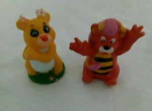 "Vintage 4 Disney Hasbro Wuzzles Mini Figures Butterbear, Moosel etc 2"" 1985"