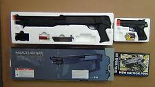 Double Eagle DE M56B Triple-Shot Airsoft Shotgun Plus One Free Nice Pistol