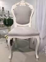 French Louis Style Dining Or Bedroom Chair In Laura Ashley Dalton Fabric
