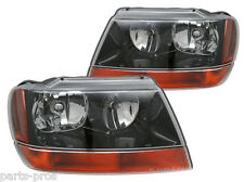 New Replacement Headlight Assembly PAIR / FOR 1999-02 JEEP GRAND CHEROKEE LAREDO