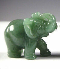 Chinese Green jade Carved Elephant Small statue