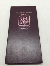 1987 VIRGINIA SLIMS cigarettes BOOK OF DAYS Calendar Vtg