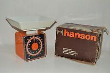 Vintage Retro Hanson 70s Orange Kitchen Scales With Tray & Box