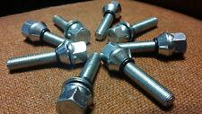 10 M12 x 1.25 ALLOY WHEEL WOBBLE WOBBLY BOLTS 5X98 5X100 5x102 5x108 5x110 46mm
