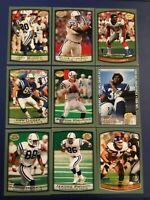 1999 Topps Collection INDIANAPOLIS COLTS Complete Team Set 9 JAMES RC, MANNING
