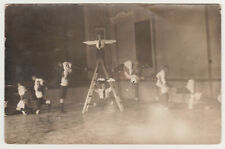 Lot of Boys Gymnastics Unusual Abstract Snapshot 1920s Antique Old Photo