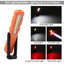 Rechargeable COB LED Slim Work Light Lamp Flashlight Inspect Magnetic Torch US