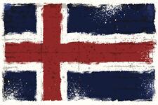 Icelandic National Flag Art Print Poster 18x12 inch