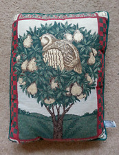 Riverdale Tapestry Christmas Throw Pillow Cushion Partridge In A Pear Tree Euc!