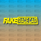 "FAKE RACE CAR Funny MEME Fake Taxi Yellow Drift Lowered 8"" Custom Vinyl Decal"