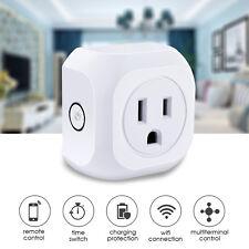 2PCS US Plug WIFI Smart APP Remote Control Timer Switch Socket Alexa Google New