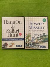 Rescue Mission + Hang On & Safari Hunt Sega Master System Used Tested Ships Fast