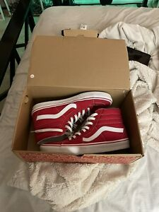 Vans High Top Red Size 10 Brand New