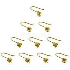 10pc Gold Plated Rose Flower Hook Ear Wire Earring Jewelry Making Findings DIY