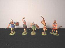 Elastolin 7cm-70mm  Pro-Painted Norman/ Saxon, Total 5 Figures, LOT#2