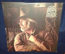 KENNY ROGERS, GIDEON 1980 VINYL LP (VG) COWBOY LETTER INSERT & FOLDOUT POSTER NM