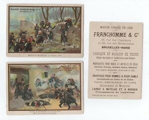 6 VINTAGE FRENCH / BELGIAN ADVERTISING CARDS - FRANCHOMME & CO - (NOT POSTCARDS)