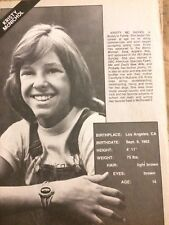 Kristy McNichol, Lynda Carter, Double Full Page Vintage Clipping