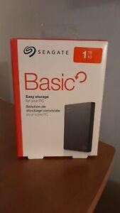 """Seagate Basic 1TB 2,5"""" Esterno Disco Rigido Nuovo"""