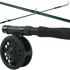 3 Piece Fly Fishing Rod Real Set 8 Foot Graphite Tie Flies Kids Youth 6/7 Weight
