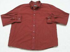 Eddie Bauer Red Striped Cotton Dress Shirt Long Sleeve Mans XXL Mens 2XL 1-33