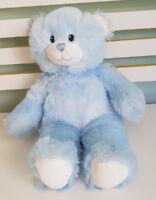 BUILD A BEAR LIGHT BLUE WHITE PADS ON FEET BLUE EYES 40CM! TEDDY BEAR PLUSH TOY!