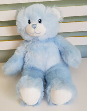BUILD A BEAR LIGHT BLUE WHITE PADS ON FEET BLUE EYES 40CM! TEDDY BEAR PLUSH TOY!