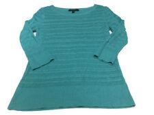 Banana Republic Teal/Aqua Open Knit Crewneck Sweater Size Small
