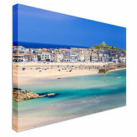 Porthminster Beach St Ives Cornwall  Canvas Wall Art Picture Print