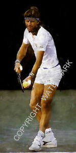 Rare Bjorn Borg Tennis Art Print, 12x18, signed and numbered by artist