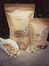 Trail Mix with sunflower seeds, corn, wheat and grit. For chickens or birds