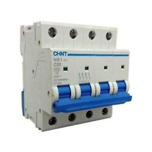 CHINT NB1-63 C Type Circuit Breaker 6KA 400V 4Pole 20Amp (3 Pack)