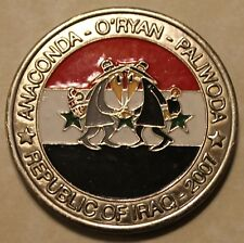 Explosive Ordnance Disposal EOD Iraq TF TROY 2007 FOB Military Challenge Coin