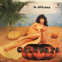 Hear Calabaza La Africana Latin lp Funny Sexy Cover Cheesecake leggy brunette