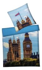 Villa Noblesse Renforce Wende Bettwäsche Set 2 teilig 135x200cm London/Big Ben