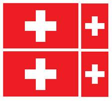 4 X bandera de Suiza Suiza Pegatina de vinilo coche furgoneta Ipad Laptop