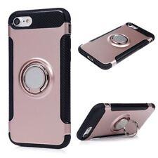 coque à renfort en carbone Silicone rose+anneau métallique Apple iPhone 6(s)Plus