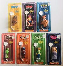 1979 Fisher Price MUPPETS stick Puppets 7 Figure set Kermit Miss Piggy + MOC