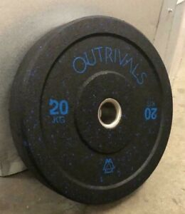 Olympic Bumper Weight Plates 20kg Rubber Hi Impact Weights Pairs Gym Training