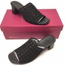 Munro Jules Mule Womens SZ 10 Black Suede Nubuck Shoes Sandals NIB Made in USA