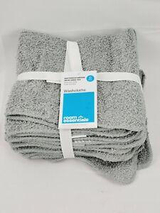6pk Washcloth Gray - Room Essentials Towels
