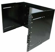 "19"" inch 8U Hinged Extendable Depth 9.75-13.5"" Wall Mount Server Equipment Rack"