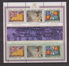 QEII 25th Anniversary Coronation 1978 MNH Stamp Sheet Niue SG 245-247