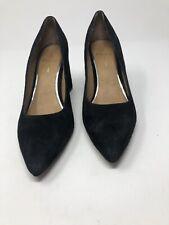 LINEA PAOLO Blair Pumps Block Heels Black Suede Leather Women Size 8.5 M 1765