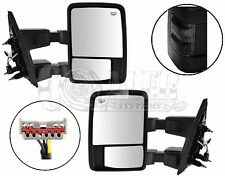 Fits Ford F250 F350 F450 Side Towing Mirrors | Smoke Turn Signal | Power Heated