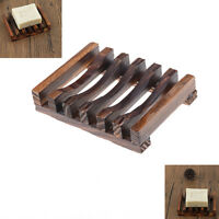 Nature Wooden Bath Tray Kitchen Soap Dishes Storage Bathroom Soap Holder HGUK