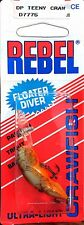 "Vintage Rebel 1990 DP Teeny Craw 1-1/2"" Floater Diver  #D7775"