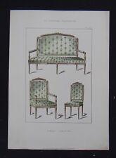 LA TENTURE FRANÇAISE 1904 - Sièges Louis XVI - ameublement décoration 111