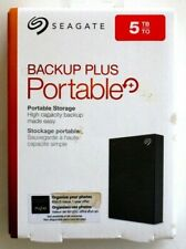 Seagate Backup Plus 5TB External USB 3.0 Portable Hard Drive - Brand New