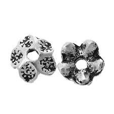 30x perlas tapas perlkappen remates filigrana flores para 16 mm perlas metal